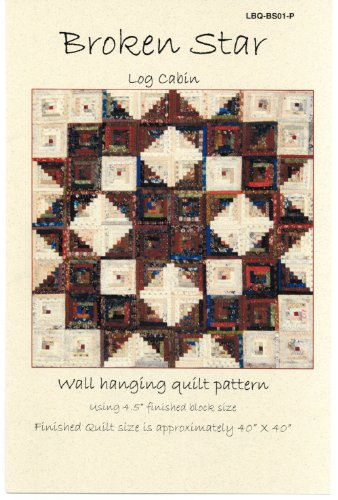 Broken Star Log Cabin Scrap Quilt Pattern by Laundry Basket