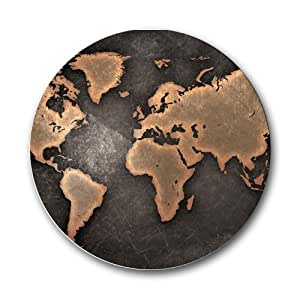 World Map Round Mousepad Mouse Pad Great Gift Idea