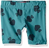 Dream Star Girls' Little Peached Bike Shorts, Aqua Small/4