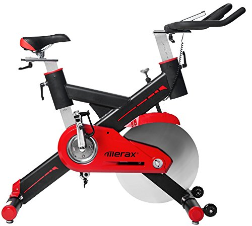 Merax Indoor Training Exercising Cycling Bike With LCD Monitor Commercial Grade& Home Use