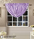 Royalty Custom Waterfall Window Valance Swag (66x37inch, Lt.Purple) Review