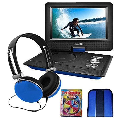 "Ematic 10"" Portable Swivel Screen DVD Player w/ Headphones &"