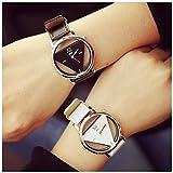 Fashion Men Women Watch Triangle Quartz Analog Couple Wristwatch Valentine's Day
