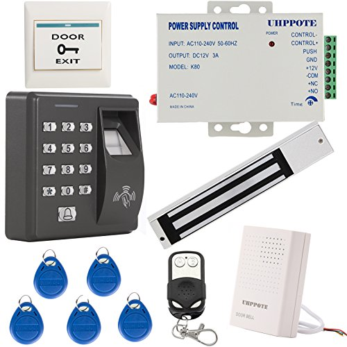 UHPPOTE Biometric Fingerprint & RFID ID Card Stand-alone Access Control Kit W/ 280KG 600lbs Force Magnetic Lock by UHPPOTE