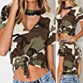 Womens O-Neck Short Sleeve Camouflage Vulnerability Tee Casual Top Camis Tunics Blouse