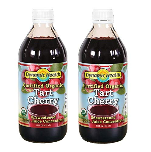 Dynamic Health 100% Pure Organic Certified Tart Cherry Juice Concentrate, 16-Ounce (Pack of 2) ()