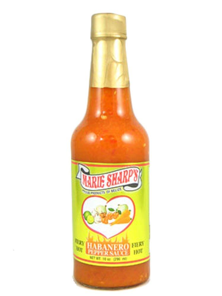 Marie Sharp's Fiery Habanero Sauce 10 Oz. (Pack of 12)