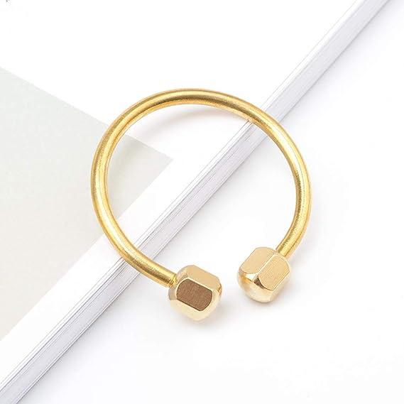 Kineca Unisex Nut Locking Brass Keyring Keys Holder Keychain Daily Outdoor Hiking Key Ring