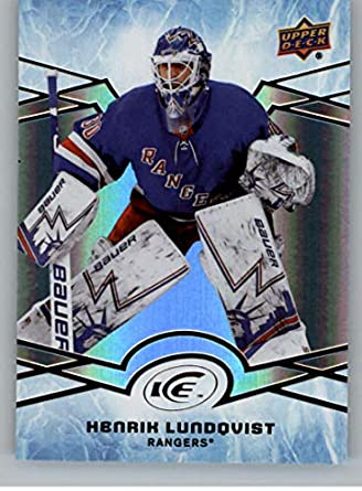 Amazon Com 2018 19 Nhl Ud Ice 19 Henrik Lundqvist New York Rangers