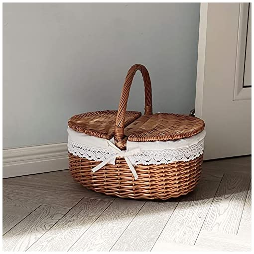 wicker baskets with Handles