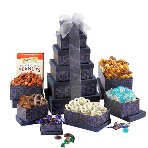 Broadway Basketeers Winter Wonderland Holiday Gift Tower (Kosher)