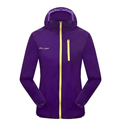 VOGUE CODE Womens And Children Outdoor Ultra-thin Breathable Anti-UV Quick Dry Coat Skin Coat Windbreaker