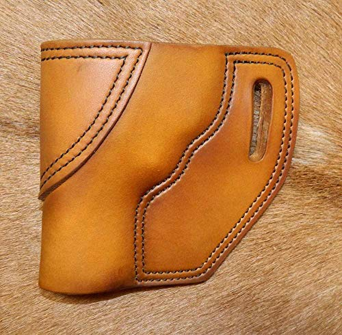 Gary C's Leather OWB Avenger LH Leather Holster for the S&W J Frame 3