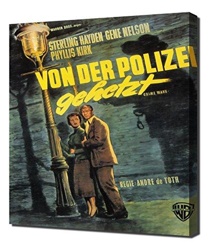 Film Noir Poster - Crime Wave_01 - Canvas Art -