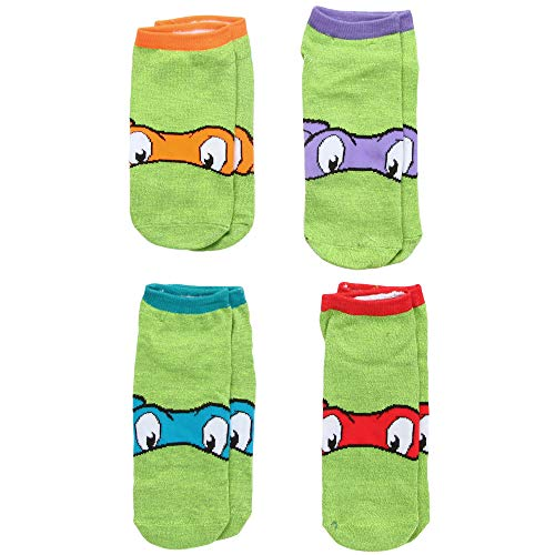 Teenage Mutant Ninja Turtles Faces Adult 4-pack Low-cut Socks -