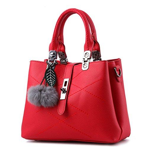 sac à cuir main à Crossbody Hobo à Sac Messenger rouge bandoulière main Vin Lady beauté sac Satchel en p74OWnq