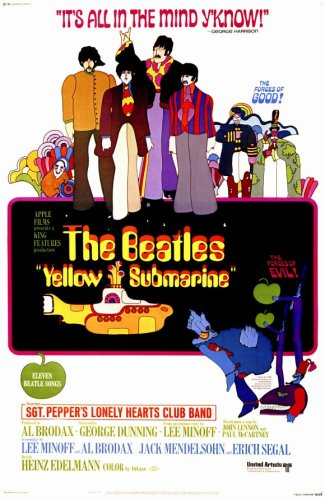 Pop Culture Graphics Yellow Submarine (1968) - 11 x 17 - Style A from Pop Culture Graphics