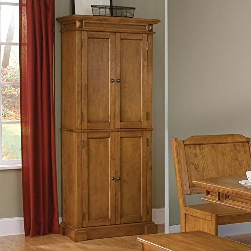 Home Styles 5004-69 Americana Pantry Storage Cabinet, Distressed Oak Finish