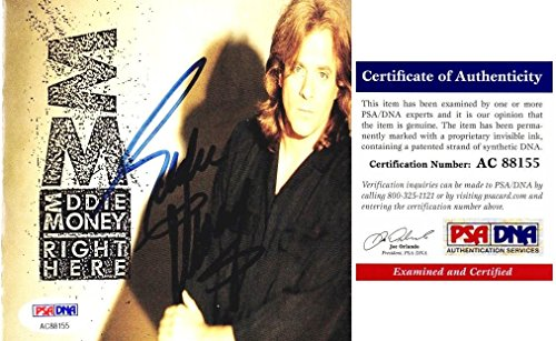 Eddie Money Signed - Autographed Right Here CD Booklet Cover and FREE CD - Certificate of Authenticity (COA) - PSA/DNA Certified