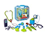 Toys : Durable Kids Doctor Kit with Electronic Stethoscope and 12 Medical Doctor's Equipment, Packed in a Sturdy Gift Case
