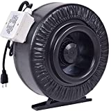 Goplus 8'' Inline Duct Fan Quite Inline Duct Booster Hydroponics Exhaust Cooling Fan Blower Strong CFM