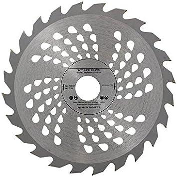Hoja de sierra circular de calidad, 230 x 32 mm con orificios de 30 mm & 28 mm y anillo reductor de 25,4 mm, para discos de corte de madera, 24 dientes, de Voyto