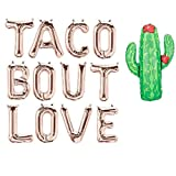 16'' Taco Bout Love Balloons,Taco Party Decorations Sign, Bridal Shower Banner Decoration,Engagement Party Decorations,Fiesta Cinco De Mayo,Rose Gold
