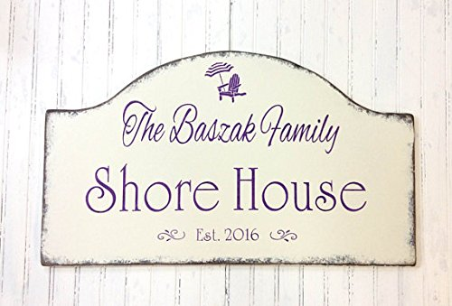 Housewarming Plaque (Wood Plaque Jersey shore house sign, custom beach decor, personalized plaque, beach cottage, custom cottage sign, realtor housewarming, Mother's day 24