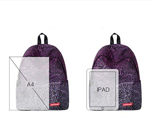 LQABW Neue Druck Taschen Rucksäcke Reise Student Taschen Daypack Schultertasche Green