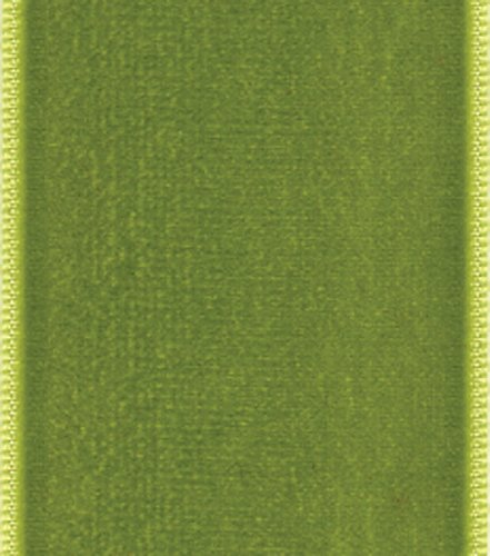 Satin Midori Ribbon - Entertaining with Caspari  Moss Green Velvet Ribbon, 4-Yard
