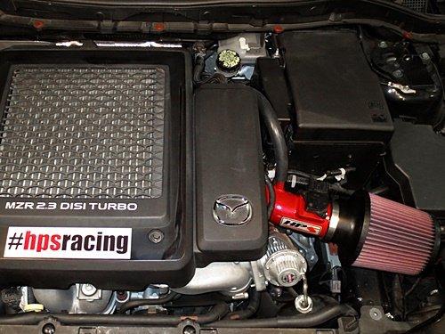 Amazon.com: 07-13 Mazda Mazdaspeed 3 Turbo HPS Red Shortram Air Intake Kit Short Ram Cool: Automotive