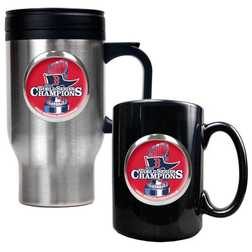 TTWM-REDSOX. BOSTON RED SOX 16 OZ. TRAVEL TUMBLER WITH METALLIC -