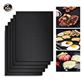 Angganquzu BBQGrill Mat,Non-stick Barbecue Mat,Reusable and Easy to Clean,BBQ Accessories for Gas, Charcoal, Electric Grill and More-13x15.75inch