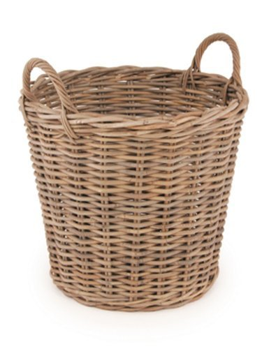 Beautiful Grey Rattan Log Basket with Handles - 53cm Tall. Code 21650 by Choice Baskets