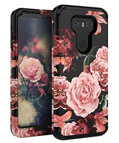 TIANLI LG G6 Case LG G6 Plus Case Flowers for Girls/Women Heavy Duty Shock Absorption Protective Case