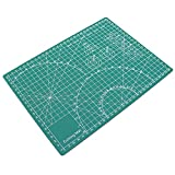 ULTNICE PVC Cutting Mat Professional Self Healing Durable Non-Slip A4 Cutting Mat for Scrapbooking Quilting Sewing Arts Crafts Projects (Green)