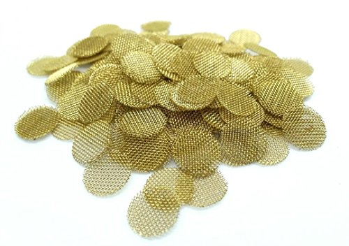 ABG-50Ct-38-Brass-Pipe-Screens-375-Very-Small-Premium-Tobacco-Smoking-Pipe-Screen-Filters-Made-in-the-USA