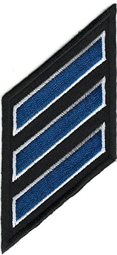 Embroidery Patch Police Three 3 Stripe Hash 15 Fifteen Year Service Stripes Insignia 1 3/4