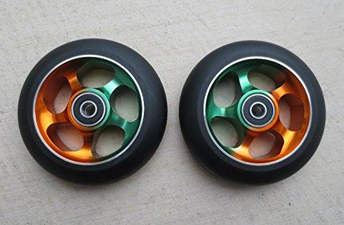 DIS 100mm Soft Landing Metal Core Wheels 5-Spoke - Rasta