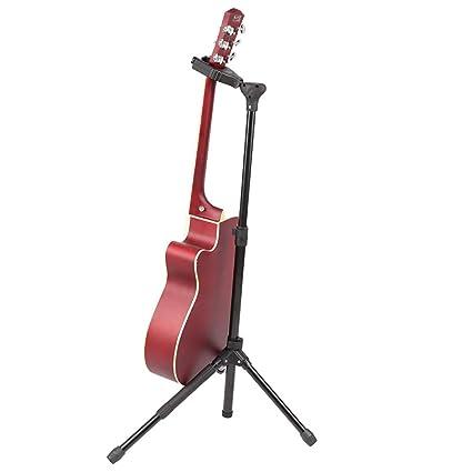 HS-Music Soporte Universal Para Guitarra Con Bloqueo Automático - Soporte De Guitarra Plegable -