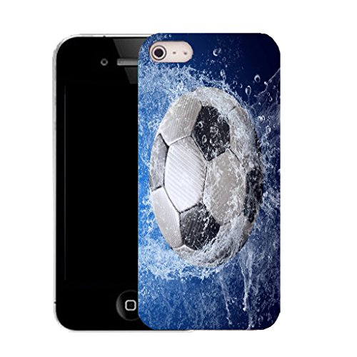 Mobile Case Mate iPhone 5c clip on Dur Coque couverture case cover avec Stylet - blue water footy Motif