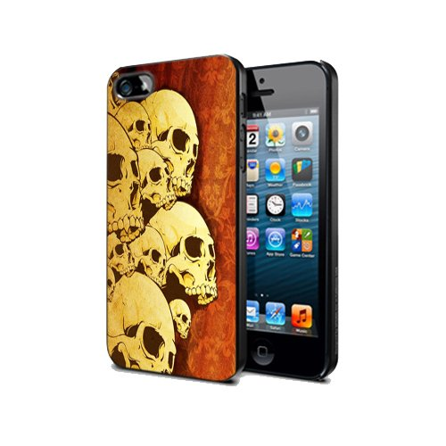 Case Cover Pvc Ipod Touch 5 Skull Ghosts Sk09 Halloween Protection Design -