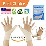 Gel carpal tunnel wrist brace, Wrist splint brace, Gel Wrist Support Braces (1 Pair) NEW MATERIALThumb Splint, Great for Tenosynovitis, Typing, Wrist & Thumb Pain, Rheumatism, Arthritis & more(Size L)
