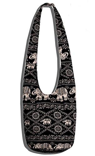 Crossbody Bag Thai Top Zip Hobo Sling Bag Handmade Hipster Messenger Bag