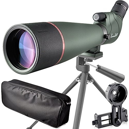 Review landove 20-60X 80 Prism Spotting Scope- Waterproof Scope for Birdwatching Target Shooting Archery Outdoor Activities -with Tripod & Digiscoping Adapter-Get the Beauty into Screen