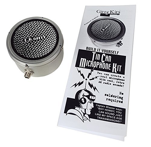 - Tin Can Microphone Kit - Build your own old-time Mic!