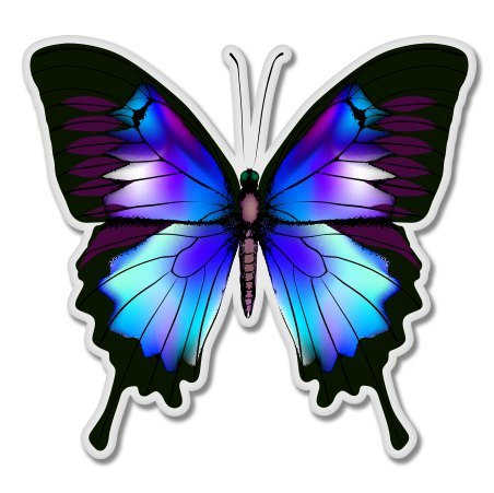 Blue Morpho Butterfly Vinyl Sticker - Car Window Bumper Laptop - SELECT SIZE (Stickers Butterfly Vinyl)