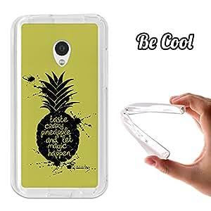 BeCool® - Funda Gel Flexible Meizu MX2 BeCool Taste Crazy Pineapple Carcasa Case Silicona TPU Suave