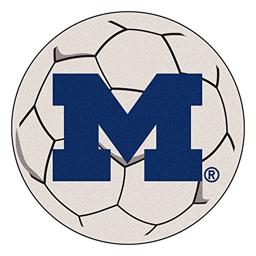 University of Michigan Wolverines Soccer Ball Rug (Rug University Ball Soccer)