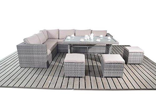 moderne gro e rattan garten tisch ecke sofa 3 modular 2 sitzer sofas mit glas esstisch und 3. Black Bedroom Furniture Sets. Home Design Ideas